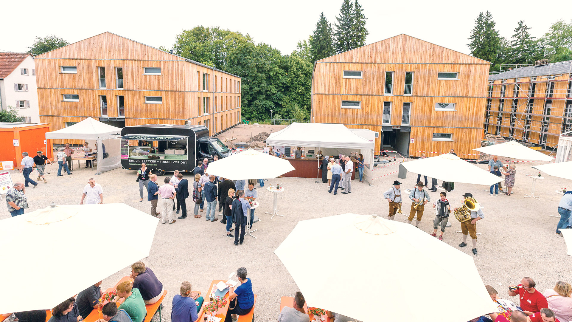 Das Baustellenfest der Wohnbaugesellschaft Villingen-Schwenningen mbH