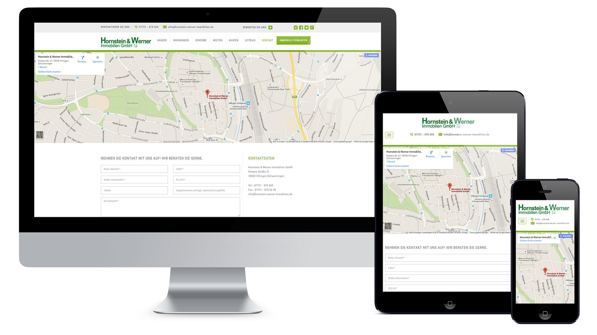 Hornstein & Werner Immobilien GmbH Web
