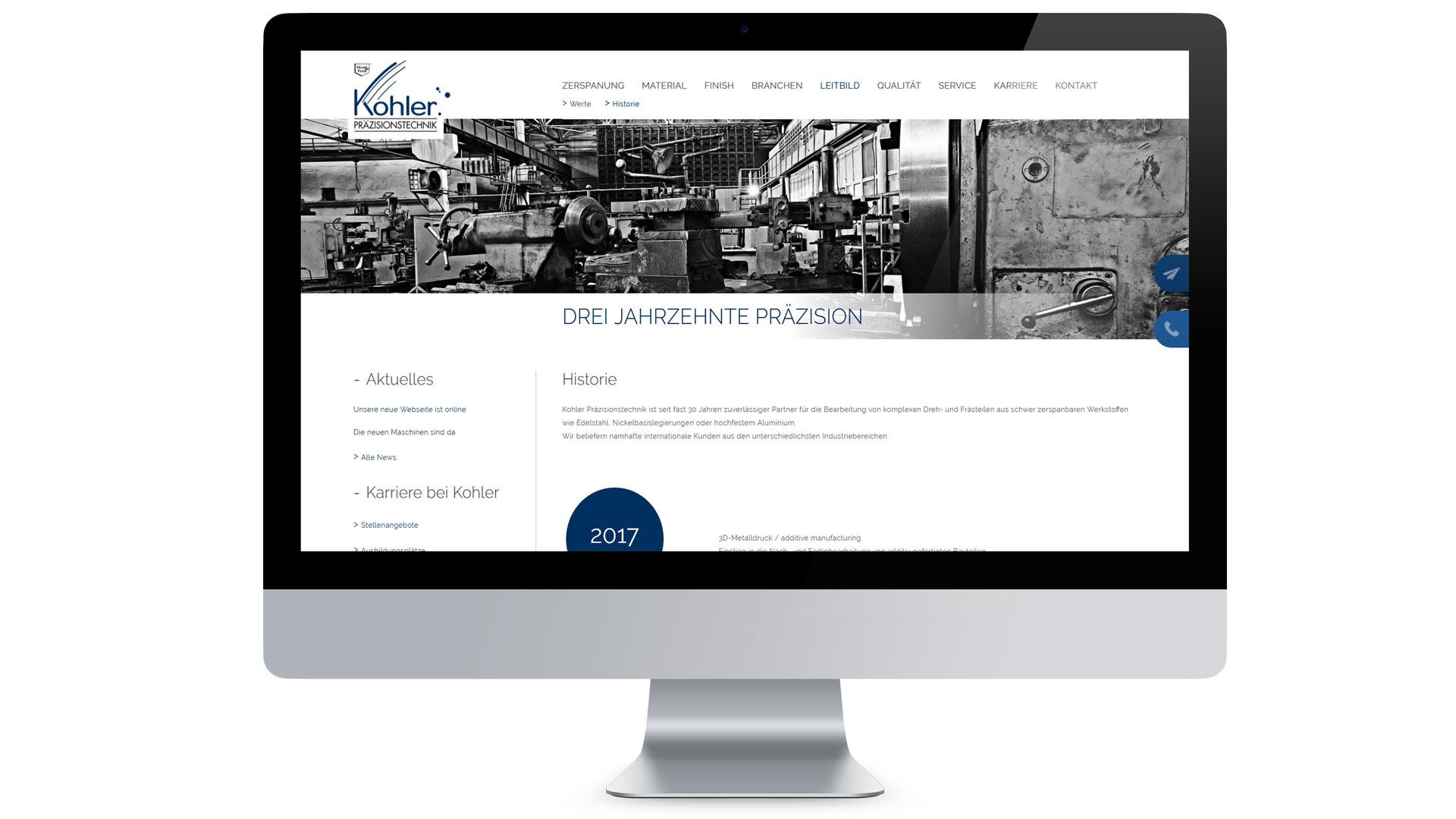 Kohler Präzisionstechnik GmbH & Co. KG Web