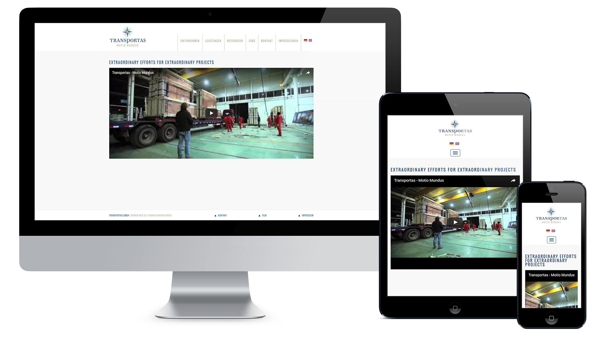 Transportas Internationale Spedition GmbH Web