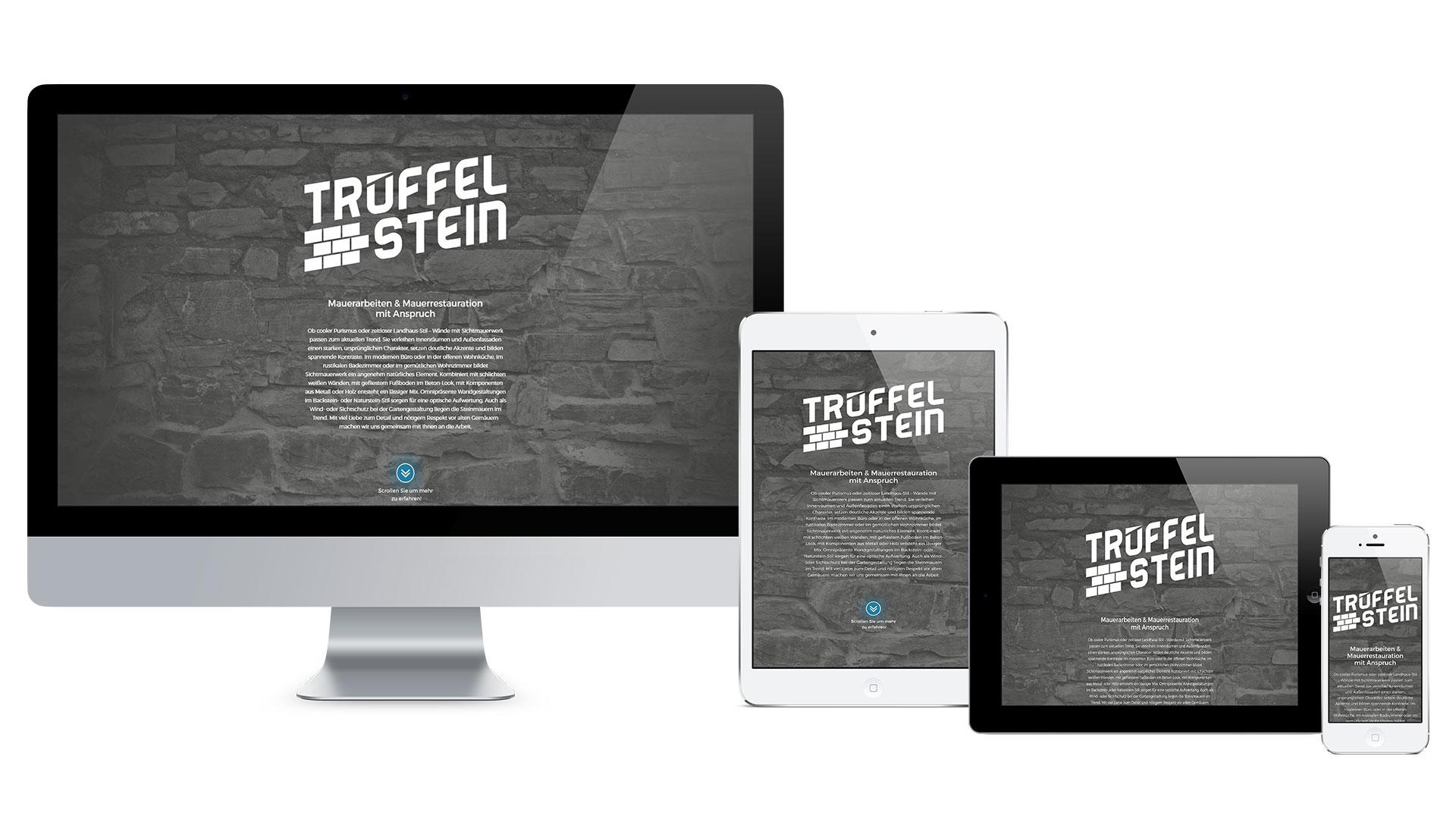 Trüffel-Stein, Mauerarbeiten & Restaurationen Web