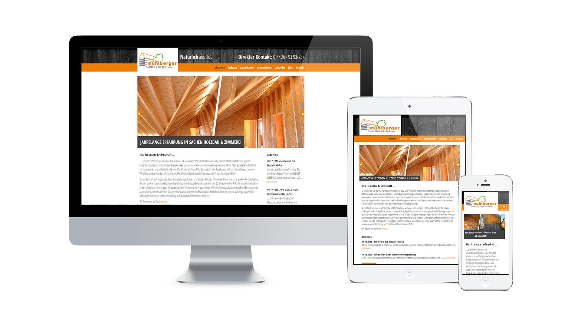 Mühlberger Zimmerei & Holzbau Web