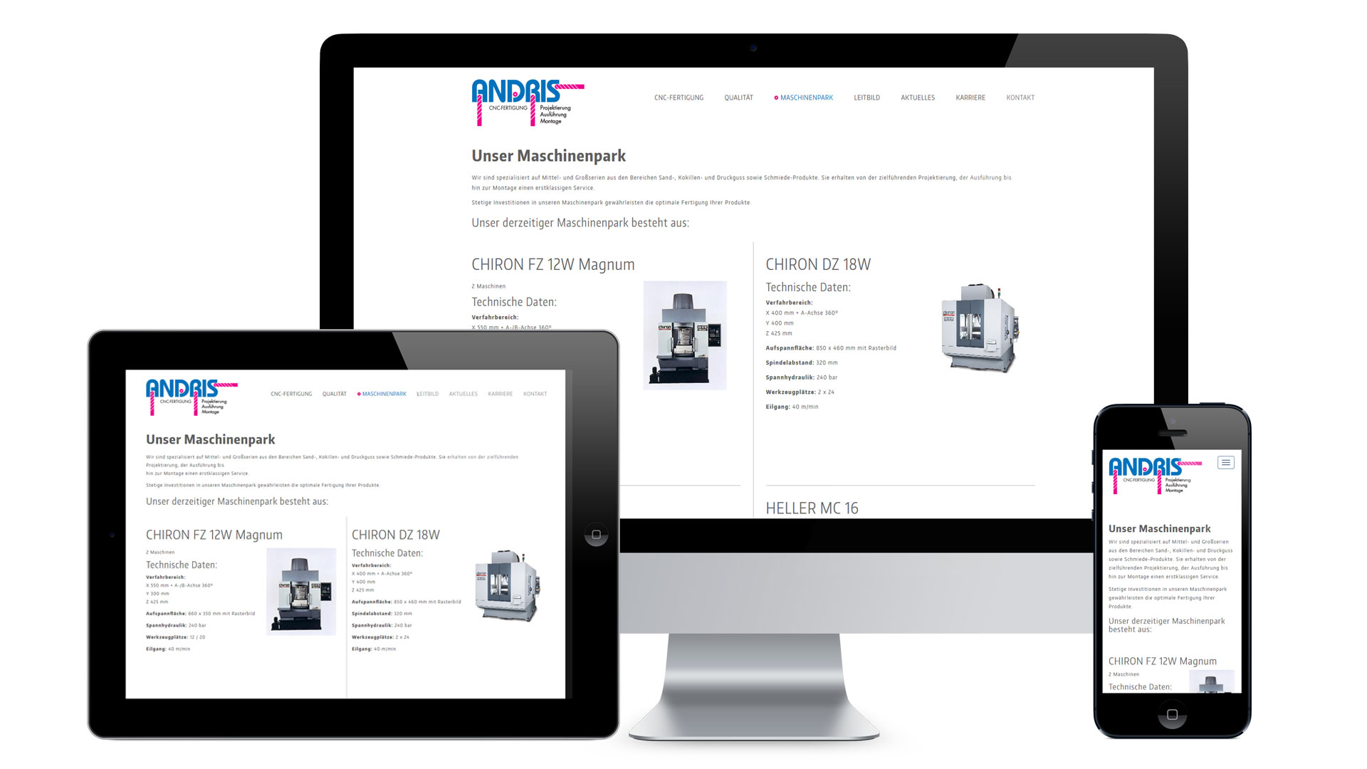 Rolf Andris GmbH Web