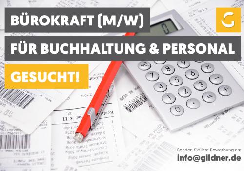Wir suchen …: Bürokraft (m/w) für Buchhaltung & Personal  in Teilzeit (50%)