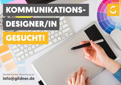 Wir suchen …: Kommunikationsdesigner/-in