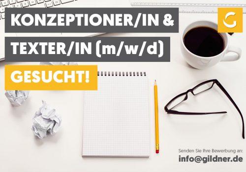 Konzeptioner/-in & Texter/-in (m/w/d) gesucht