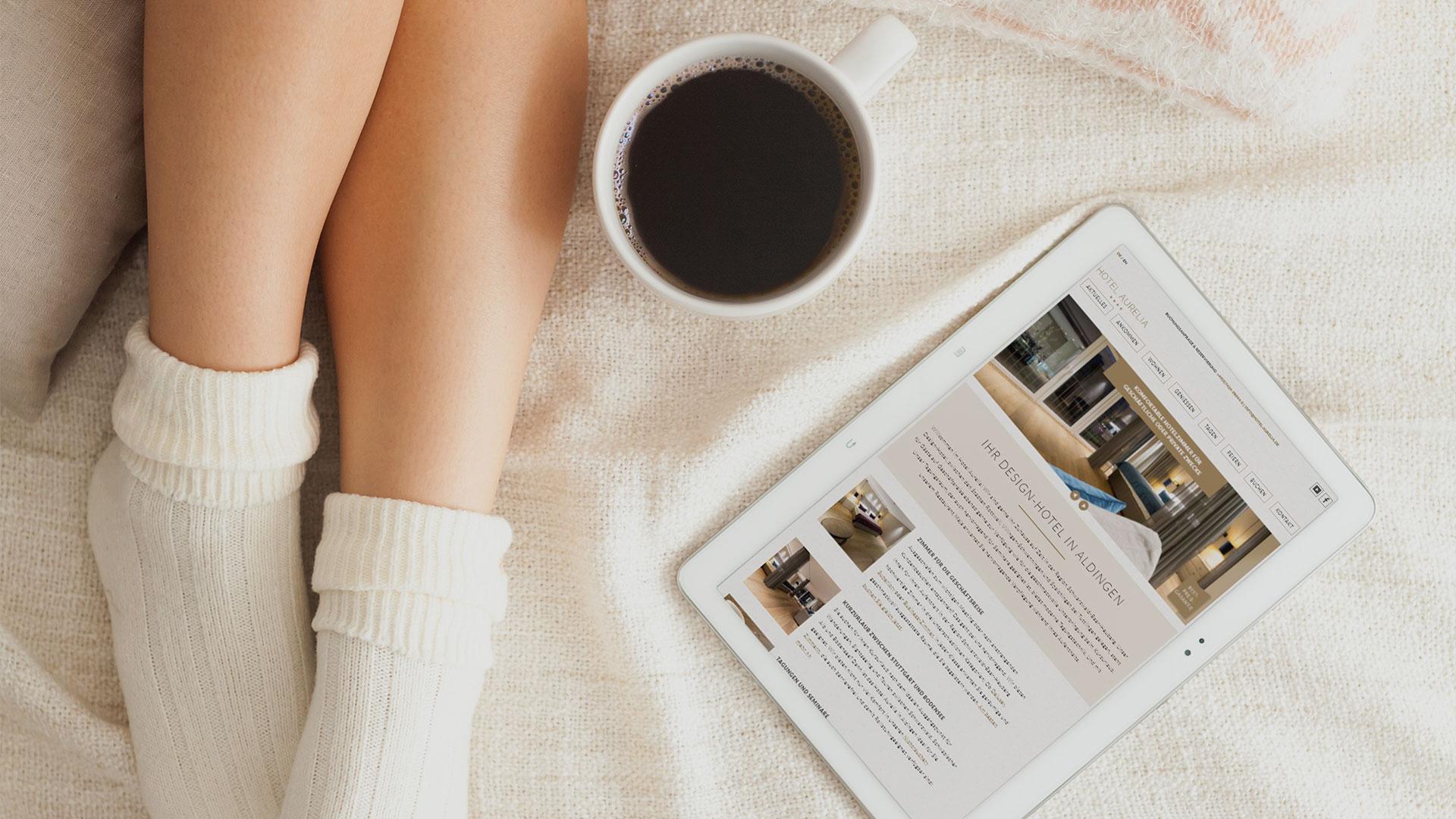 Neustart mit Anspruch: Frischer Webauftritt für Design-Hotel Aurelia