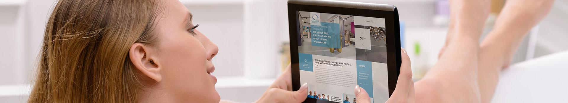 Außergewöhnliches Webdesign für Fliesen-Spezialist Ciampa