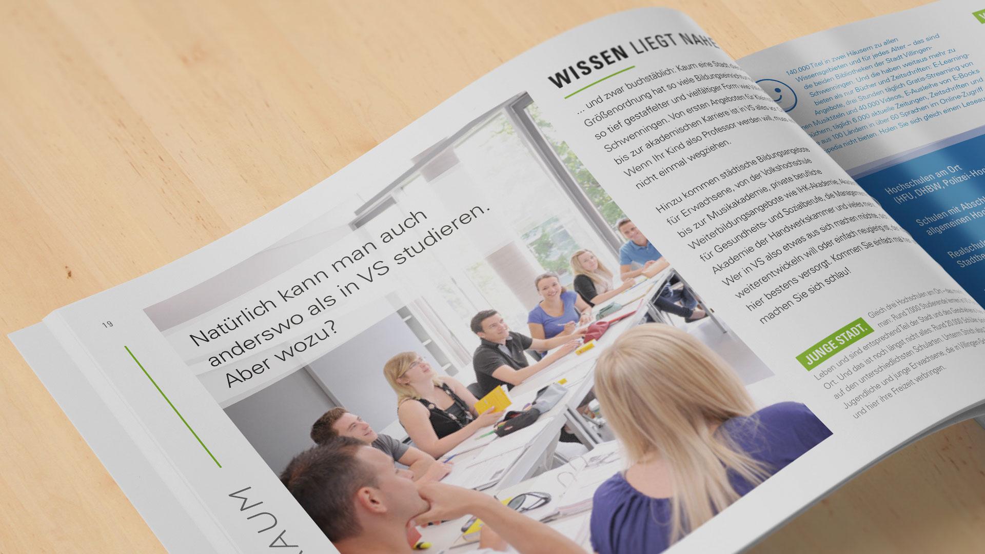 Kommune VS: Broschüre als Recruiting-Hilfe